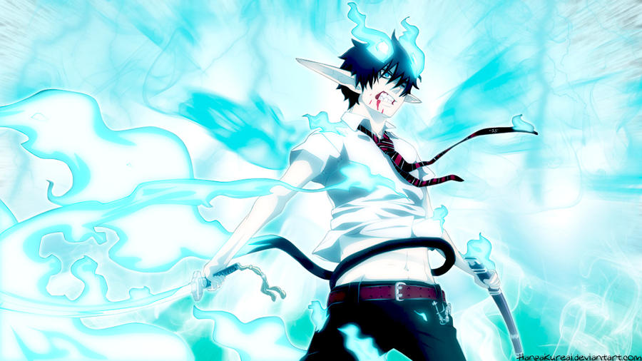 Blue Exorcist Characters Rin Wallpaper