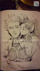 Archer and Rin kiss Ver.1 by Sobachan