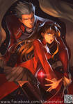 Fate Stay Night Unlimited- Archer and Rin