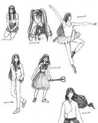 Naruto SD 1-Neji Sketches