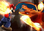 Mario vs Charizard by dxcamatic