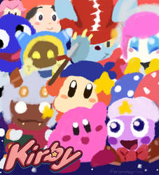 Kirby: Too Many Friends by dxcamatic