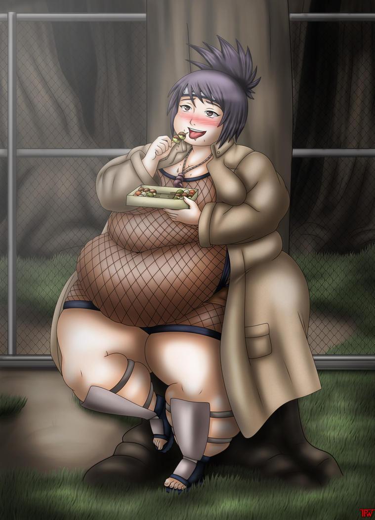 Anko the gluttonous ninja by ThePervertWithin