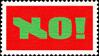 NO! (stamp)