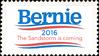 Bernie 2016 - The Sandstorm Is Coming (stamp)