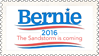 Bernie 2016 - The Sandstorm Is Coming (stamp) by hormonours