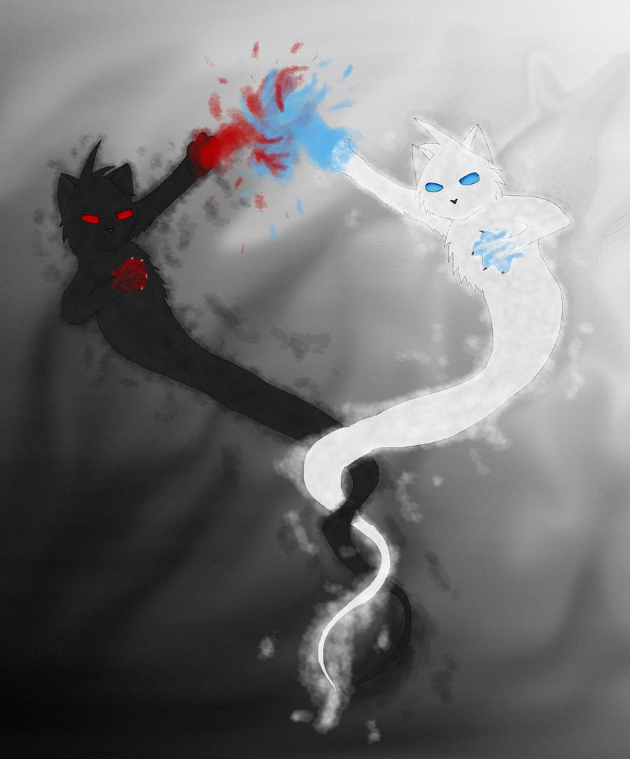 Dark vs Light by Moon-feather on DeviantArt for Dark Vs Light Art  570bof