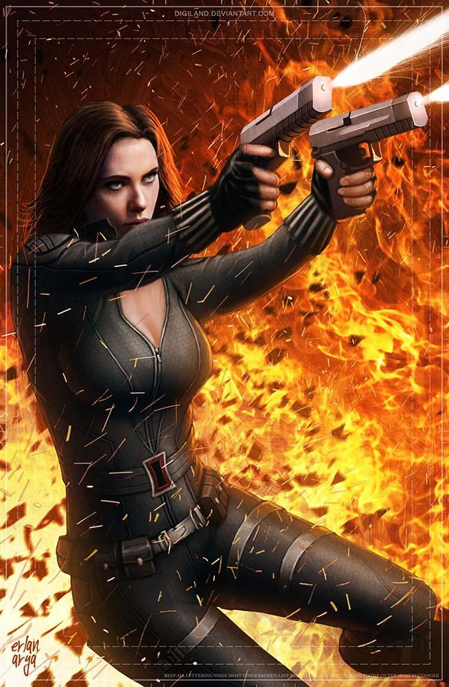 Black Widow by erlanarya