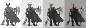 Warrior (Viking) - Step by step
