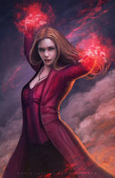 Scarlet Witch by erlanarya