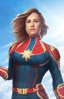 Captain Marvel by erlanarya