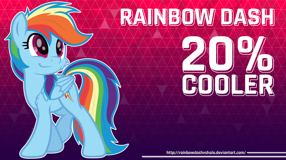 Rainbow Dash 20 Cooler Wallpaper By RainbowDashVSHalo