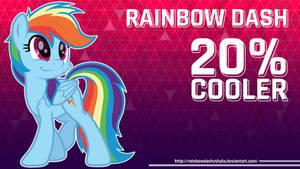 Rainbow Dash 20 % Cooler Wallpaper