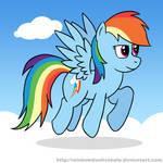 Rainbow Dash Flying Practice Draw