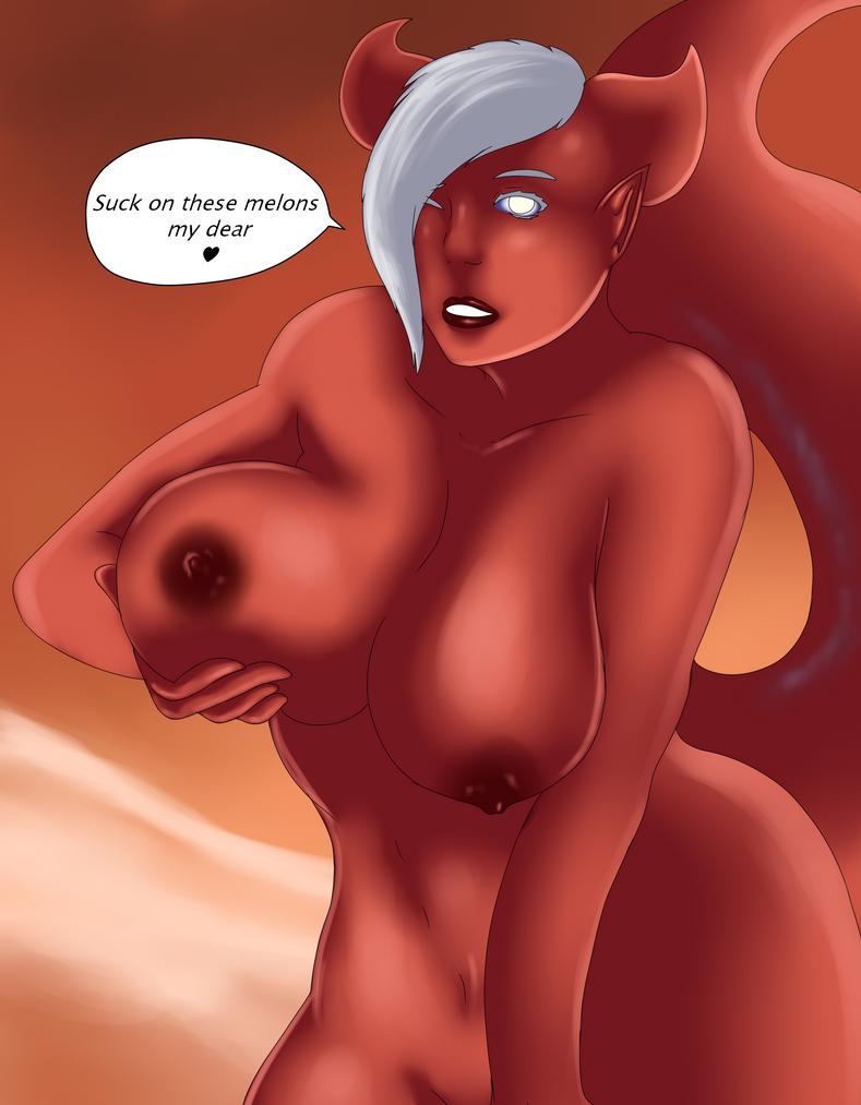 Mala Karma Boobies with color by Dav69
