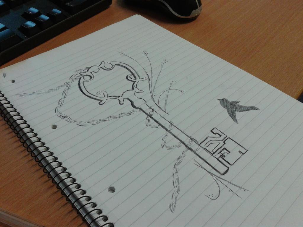 Key Art Design : New key tattoo design by lindamusicphan on deviantart