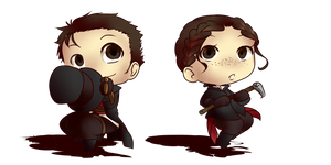 [Fan-art] Assassin's creed: Jacob x Evie [CHIBI]
