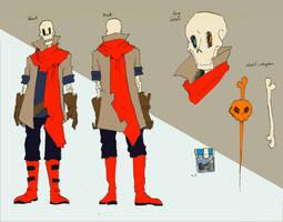[Concept art] DustBelief Papyrus by aude-javel
