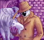 Rorschach with a unicorn by UnusualJuggernaut
