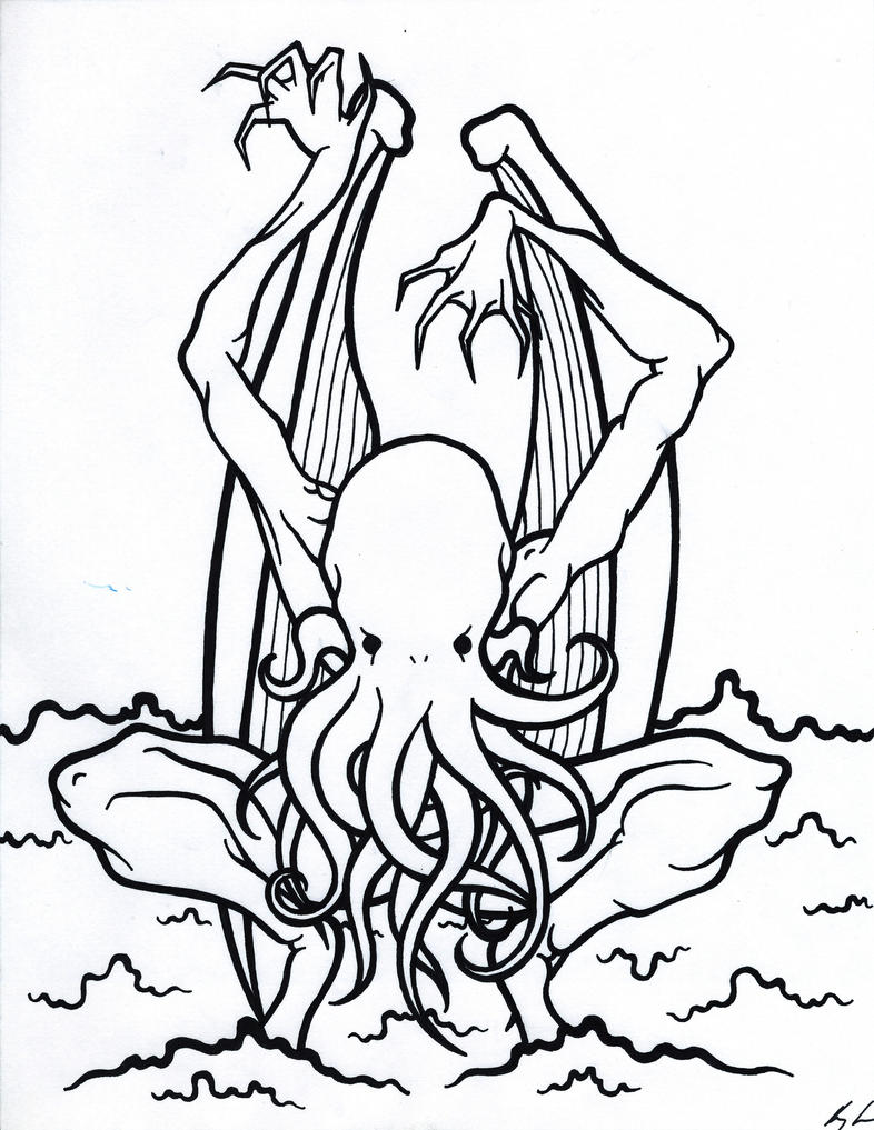 Coloring Book: Cthulhu by Ooogidy-Boogidy-Ink on DeviantArt