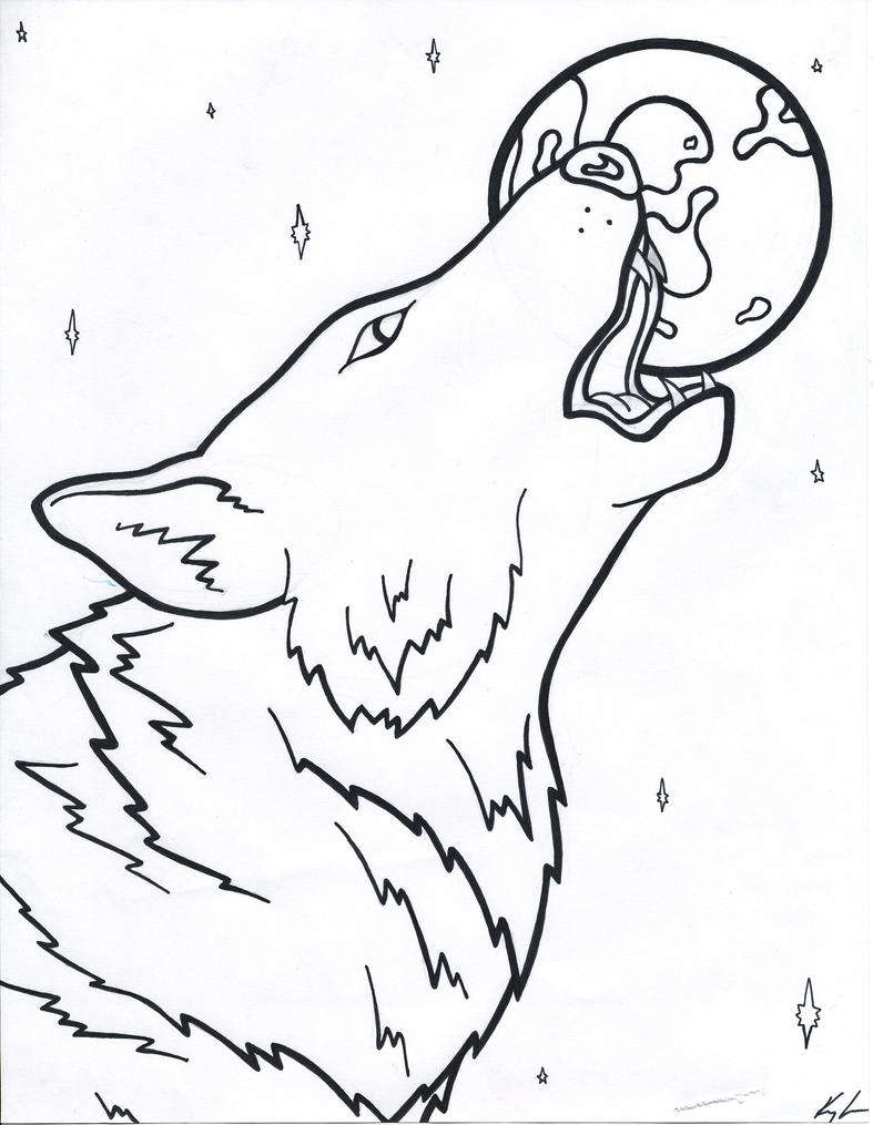 werewolf free coloring pages