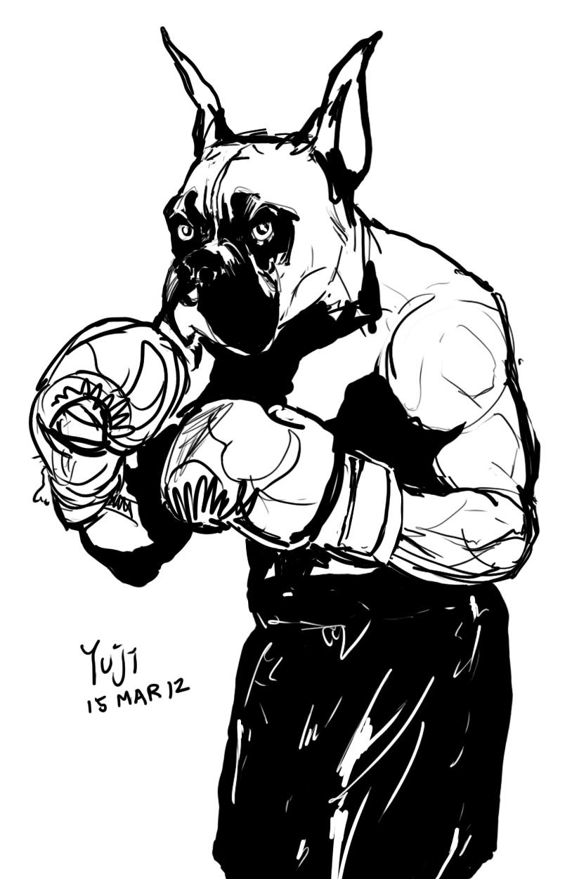 Line Drawing Of A Boxer Dog : Boxer dog line by yujiandhisboa on deviantart