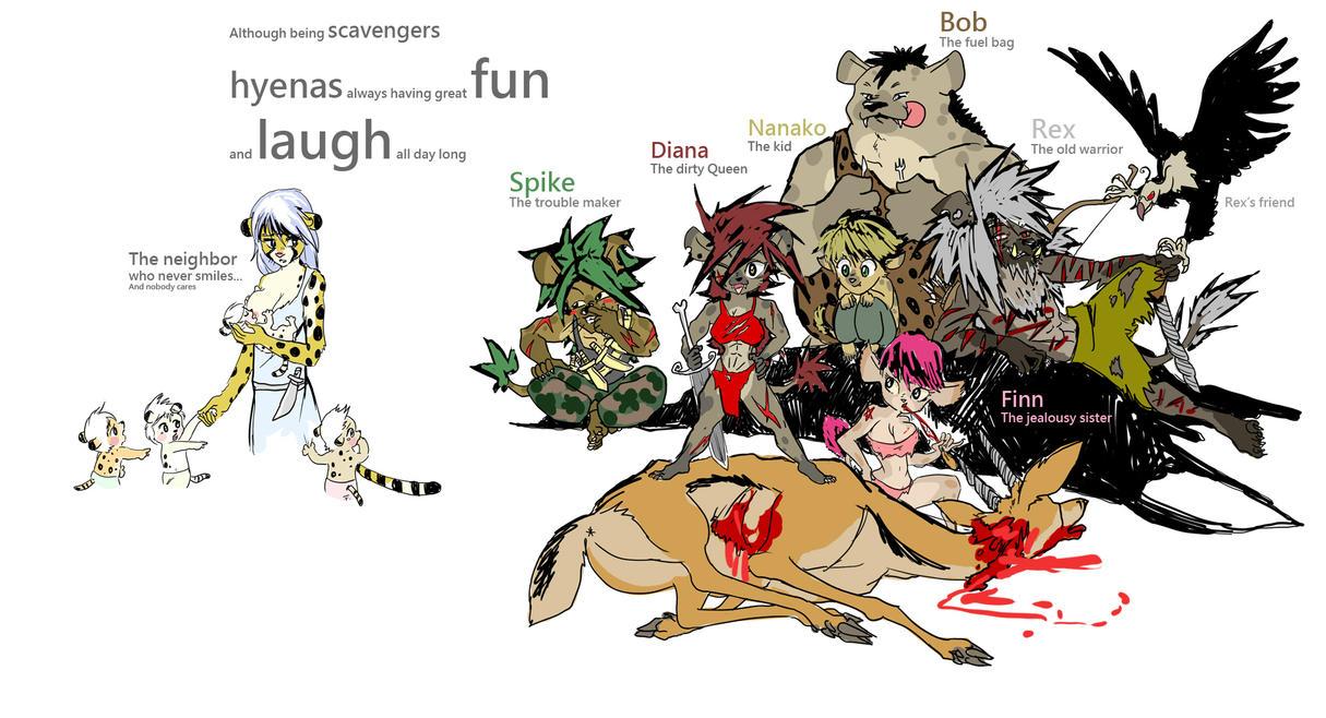 One Happy Spotted Hyena Clan By Yujiandhisboa On Deviantart