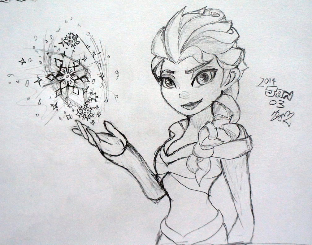Coloring pages queen elsa - Queen Elsa Disney Infinity By Liukai