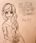 Elsa Dress-up for Film Awards