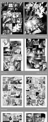 Comic pages samples - greyscale by Tralkan