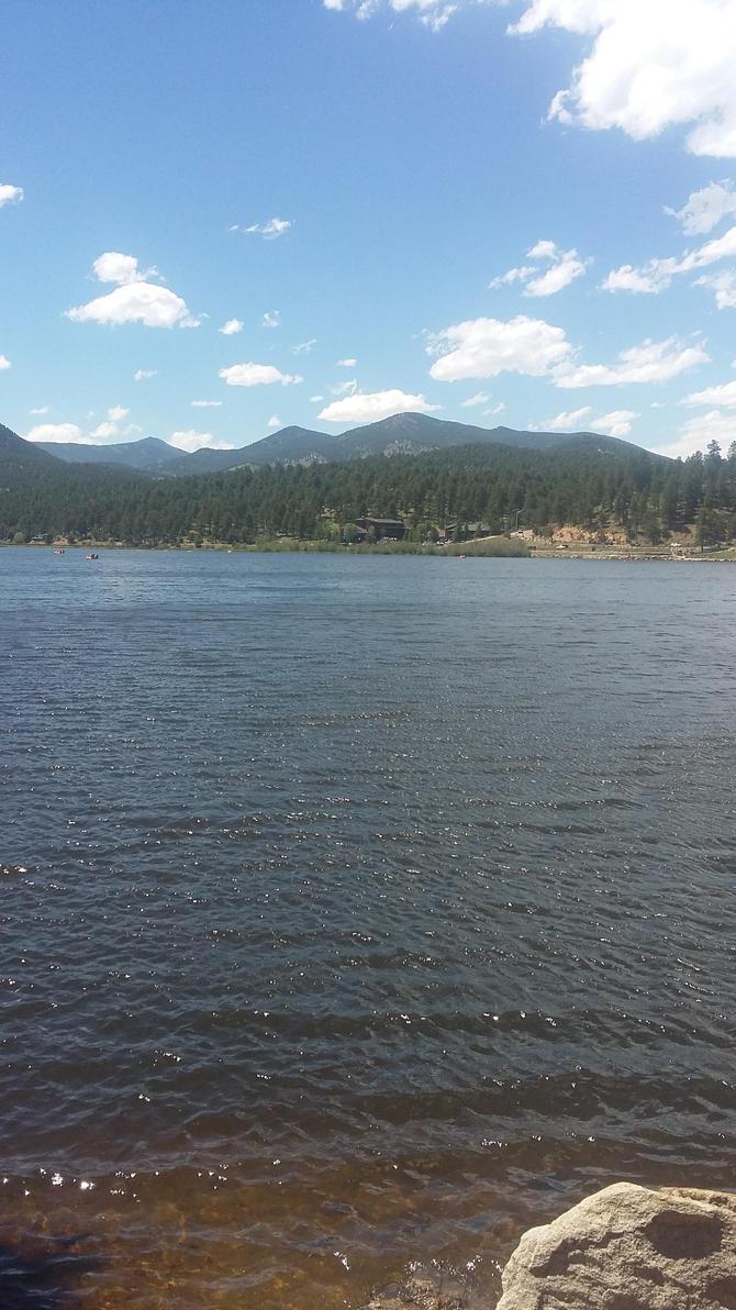 Mountain Lake View by FlowersAndHorses