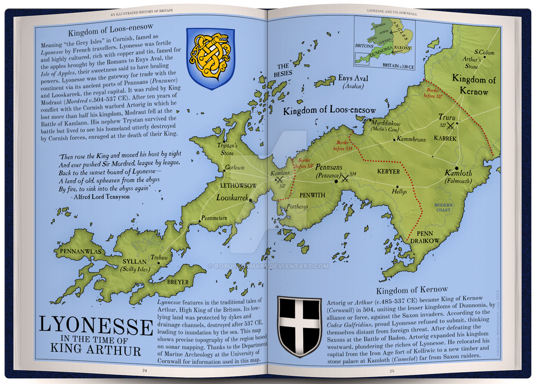 Map Of England King Arthur.Lyonesse In The Time Of King Arthur By Robulousmaps On Deviantart