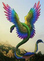 Rainbow Coatl by ArnaTornwolf