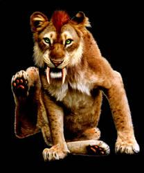 Dinah the Smilodon by ArnaTornwolf