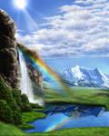 BG Stock 03 - Sacred Waterfall