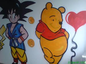 Goku pickachu winnie room 2