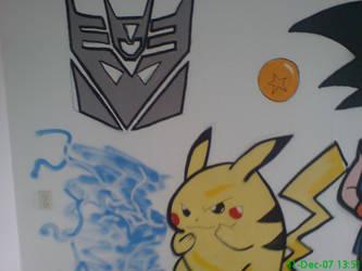 Goku pickachu winnie room 3