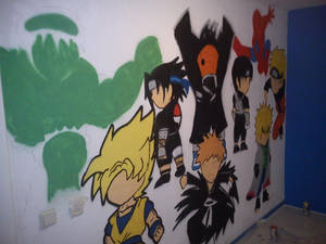 Chibi graffiti Wall Art 1