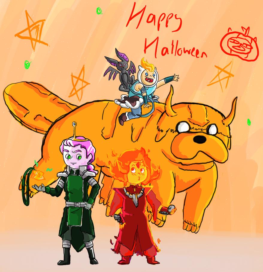 Adventure Time/Legend of Korra: Happy Halloween! by icanhascheezeburger