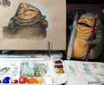 Jabba Gouache
