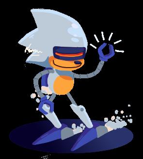 Chibi Silver Sonic by Nemesisonic