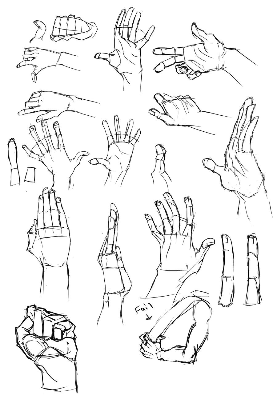 Hand Studies by Cutiekitty01