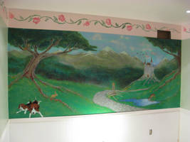 caitlyn's bedroom mural