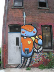 mad scientist/robot henchmen mural 1