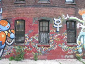 mad scientist/robot henchmen mural 2 by muralarts