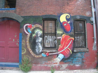 mad scientist/robot henchmen mural 4 by muralarts