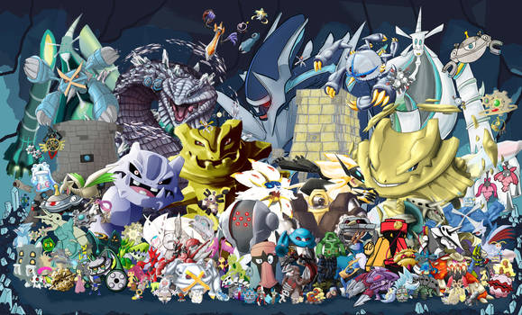 Gotta Draw 'em All: Steel Type Collab by Marche-Towers