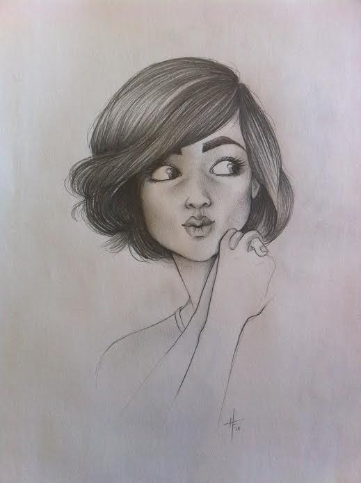 Pencil Girl by Fli-nn