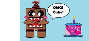 Domo loves cake