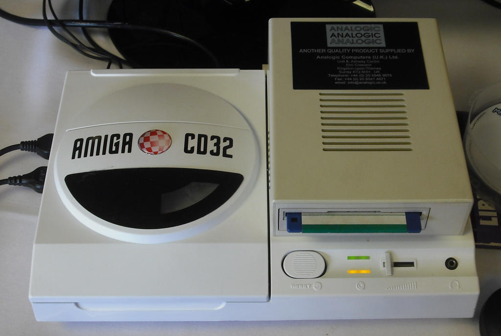 Amiga CD32 with Floppy Disk Drive
